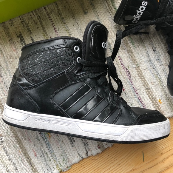 le adidas raleigh black ghepardo sneakers alte poshmark